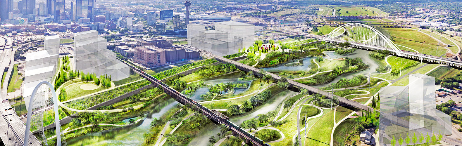 trinity river park, dallas, urban design, green space, parks, america's largest park, top inhabitat story 2016