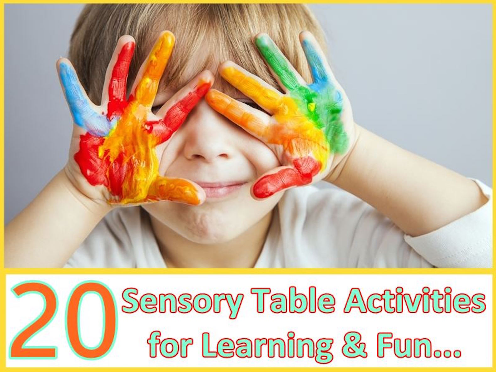 20 sensory table activities that offer creative ways to teach kids through play