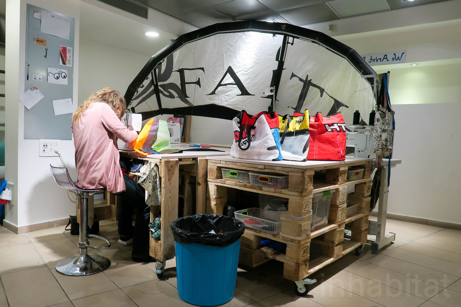 Upcycling studio in Tel Aviv gives former prostitutes a