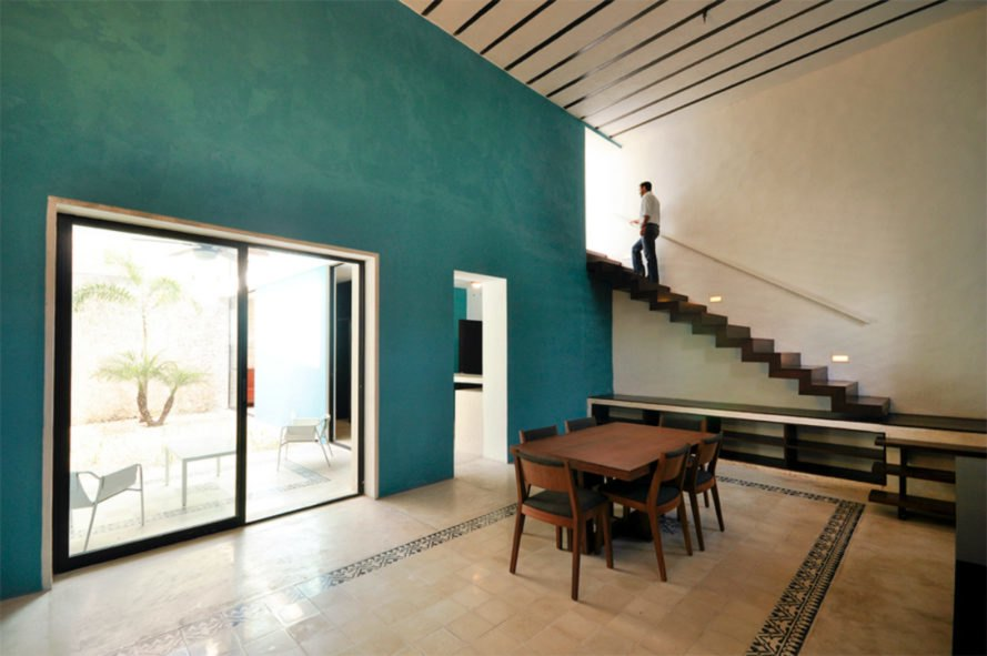 Decayed Home In Historic Merida Reborn As The Turquoisetinted Casa Beauteous Home Remodeling Leads Minimalist