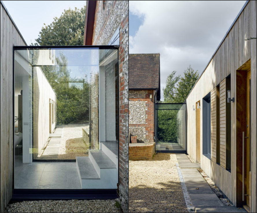Adam Knibb Architects, hurdle house, barn conversion, green home renovation, barn design, reclaimed wood, timber cladding, pre-fabricated timber frame, green renovation, sustainable design, passive homes, cross laminated structure, green renovation, barn renovation