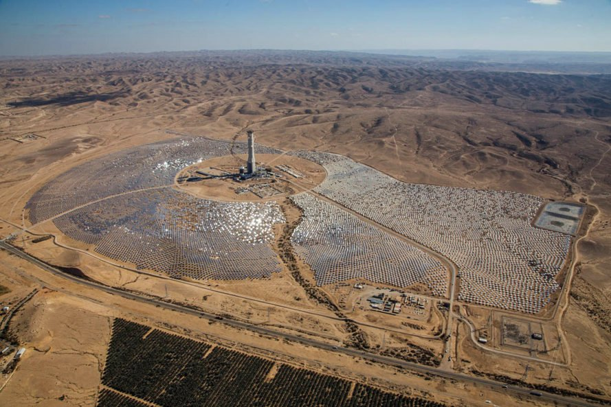 israel, Ashalim Solar Thermal Power Station, negev desert, concentrated solar power, solar power plant, large-scale solar, world's tallest solar tower