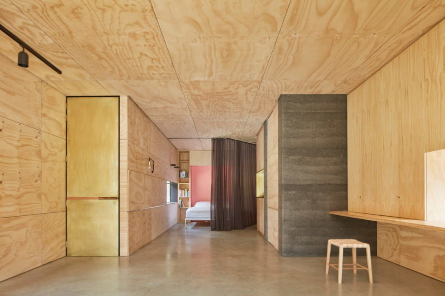 Balnarring Retreat by Branch Studio Architects, Balnarring Retreat in Victoria, flexible studio and retreat, murphy bed in a studio, Branch Studio Architects studio design,