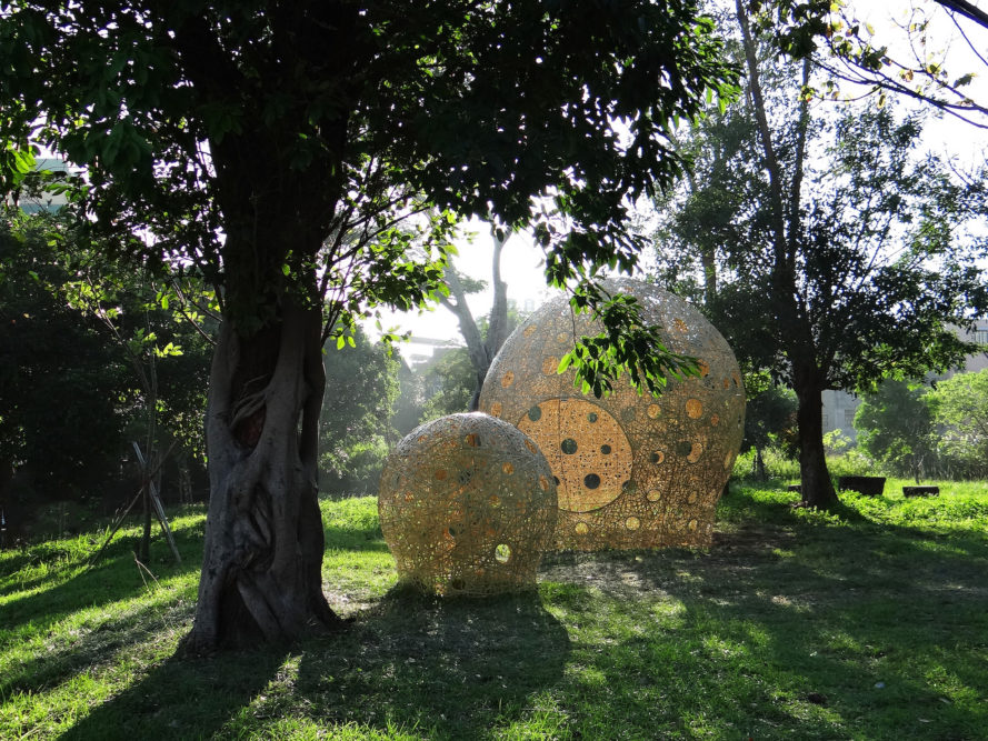 Beside by Cheng-Tsung Feng, Beside art installation in Hsinchu, bamboo art installation, bamboo art sculpture in taiwan, contemporary bamboo weaving, bamboo weaving sculpture, Cheng-Tsung Feng art, Cheng-Tsung Feng bamboo weaving, Beside in Teng Yu-Hsien Music Culture Park