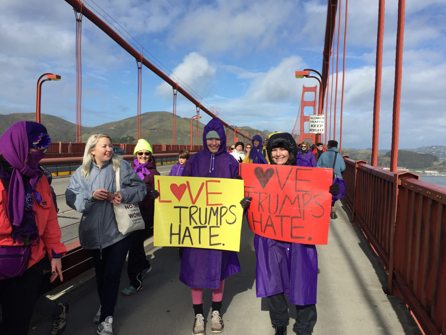 inauguration protest, trump protest, donald trump, trump administration, trump inauguration, inauguration day, national day of action, where to protest Trump's inauguration, performance art, satoriteller, lovetrumpshate, strongertogether, bridge together golden gate