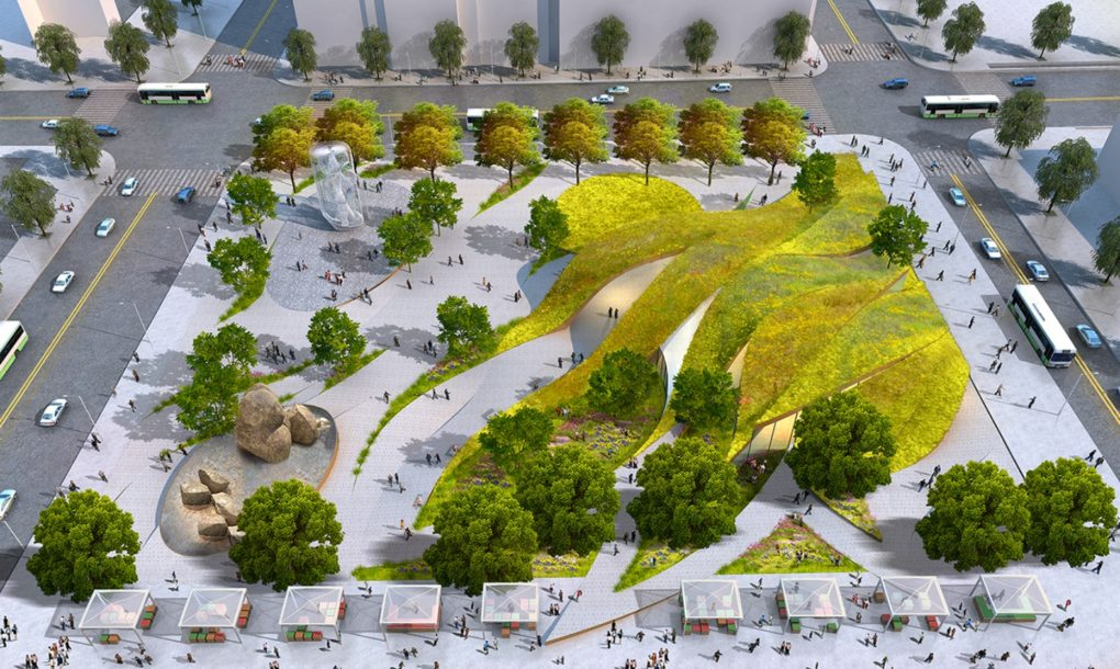 Rolling Green Ribbons Proposed For New Urban Park In