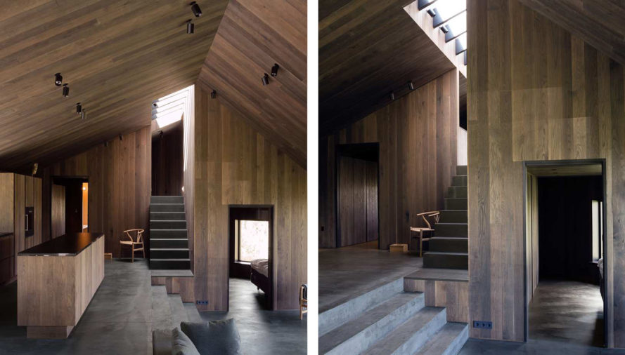 Geilo Cabin, Lund Hagem Architects, Norway, ski resort, concrete, timber, pitched roof, courtyard, green architecture, natural light