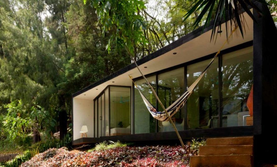 Tepoztlan Bungalow, Cadaval & Solà-Morales, temporary shelters, bungalow designs, mexico bungalows, off grid getaways, tiny homes, green design, nature-inspired design, sustainable design, mexican architecture, shelter design