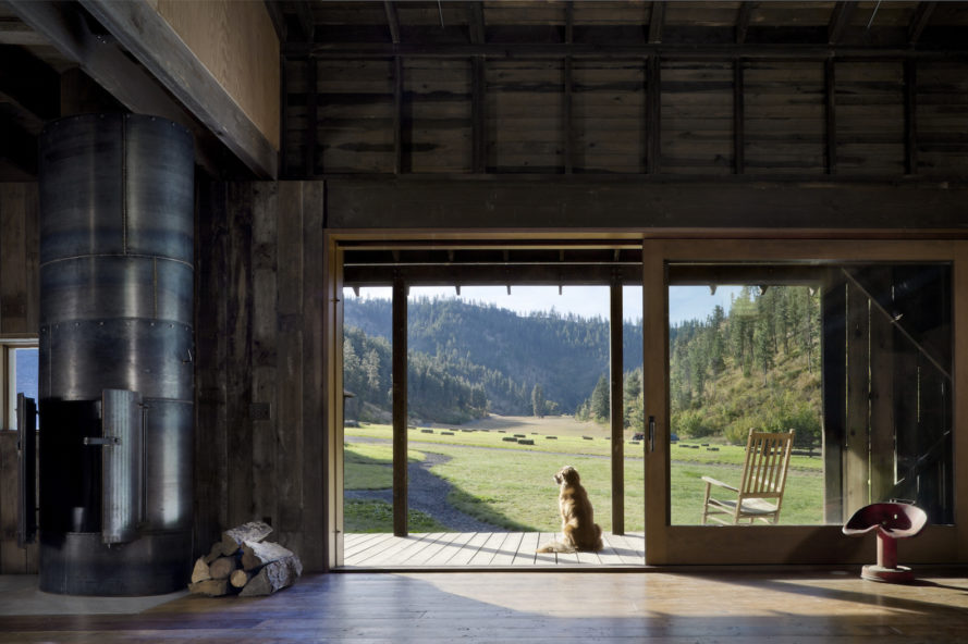 Canyon Barn by MW Works, barn renovation in Washington, Canyon Barn house, barn architecture holiday retreat, repurposed barn house, contemporary barn home, salvaged materials in barn renovation