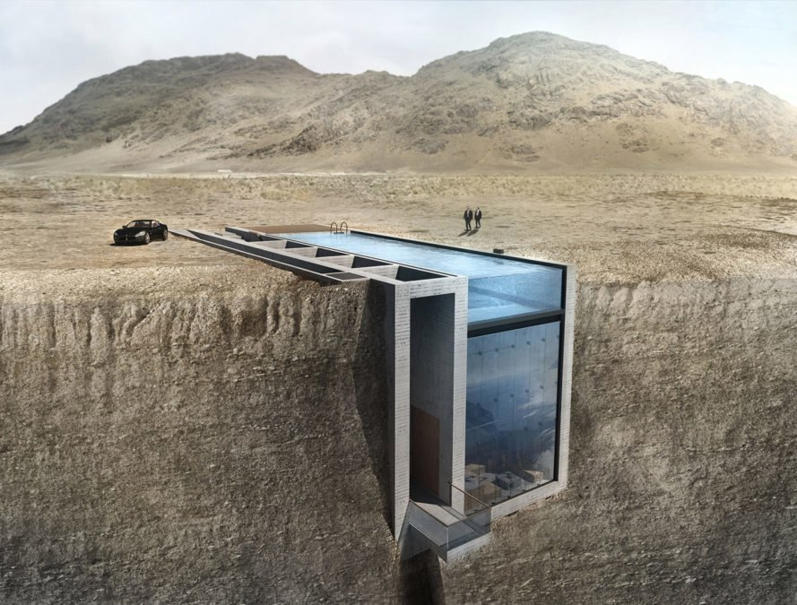 Triangle Cliff House by Matthias Arndt, House on Todos los Santos Lake by Apio Arquitectos, Cliff House by MacKay-Lyons Sweetapple Architects, Casa Brutale by OPA, Till House by WMR Arquitectos, Casa del Ancantilado by GilBartolomé Architects, Cliffside architecture, homes built on a cliff, adventurous homes on the cliff