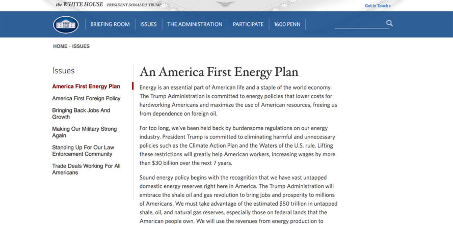 climate change, epa, white house, white house website, climate website erased, trump, donald trump, trump administration, global warming, climate change denier