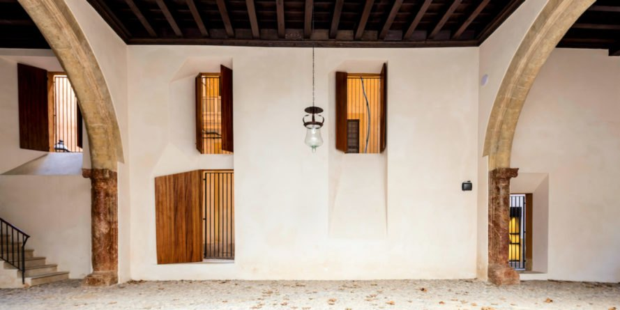 Cultural Center Casal Balaguer, palma cultural center, historic renovations, adaptive reuse, palace conversion, historic building renovation, green renovation, urban design, community centers spain, spanish architecture, sustainable design, exposed wooden beams, roof designs