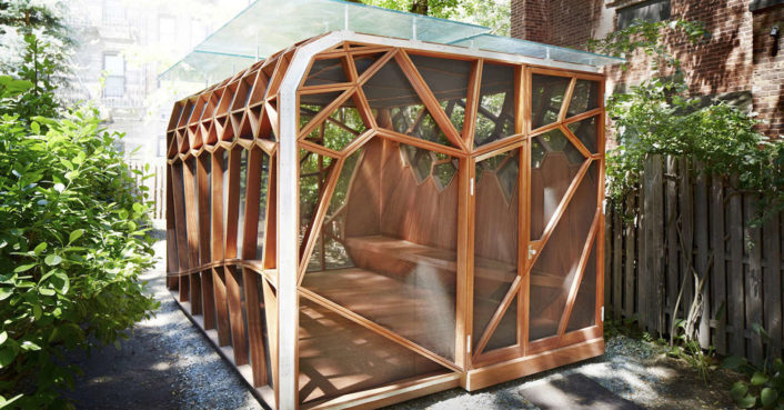Prefabricated garden retreat snaps together in less than a week