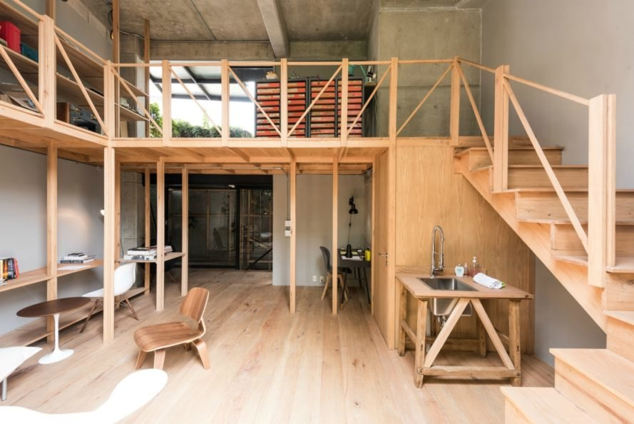 MANADA Architectural Boundaries, Essay 4 Spatial Prosthesis, wooden structure, wooden building material, wooden scaffolding, tiny home, mexican architecture, apartment renovation, tiny home design, wooden structures, vertical gardens, garden patios, garden frames