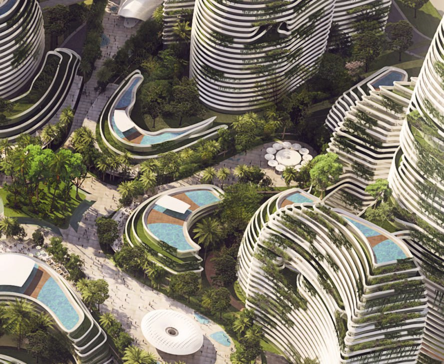 Forest City by Laboratory for Visionary Architecture, Forest City by LAVA, LAVA urban design, Forest City future in Malaysia, Malaysia future city competition, Forest City masterplan, sustainable urban design in Malaysia