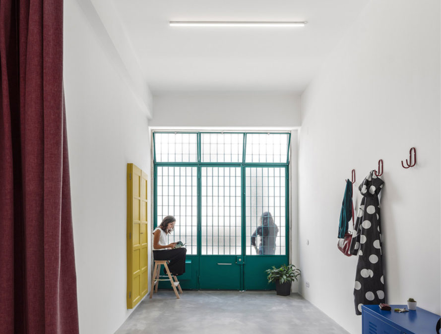 Garage House by Fala Atelier, Lisbon garage house, garage house, garage transformed into house, garage converted into house, garage converted into modern home, open plan garage house, adaptive reuse garage