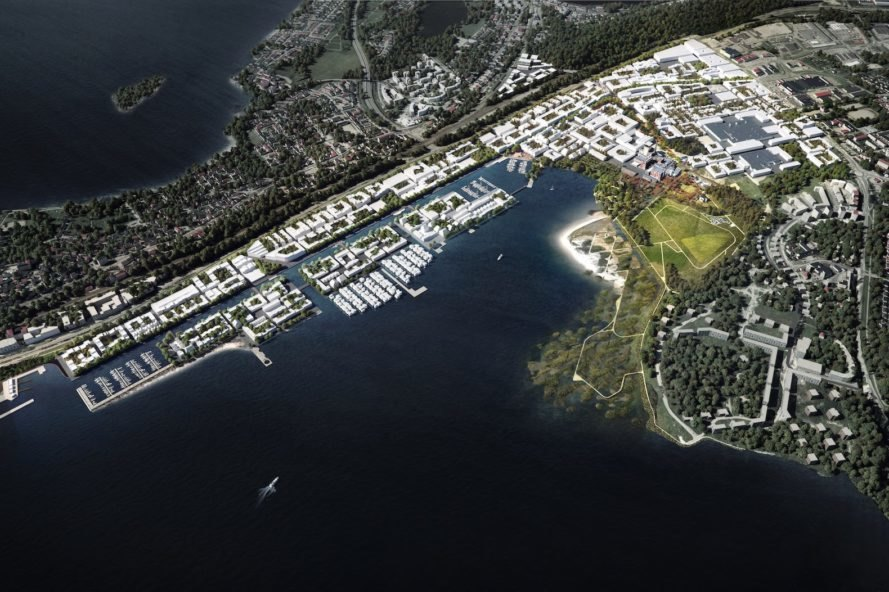 Hiedanranta Innovation Bay by Schauman & Norgren Architects and Mandaworks, Hiedanranta masterplan, carbon neutral masterplan development, circular economy masterplan,
