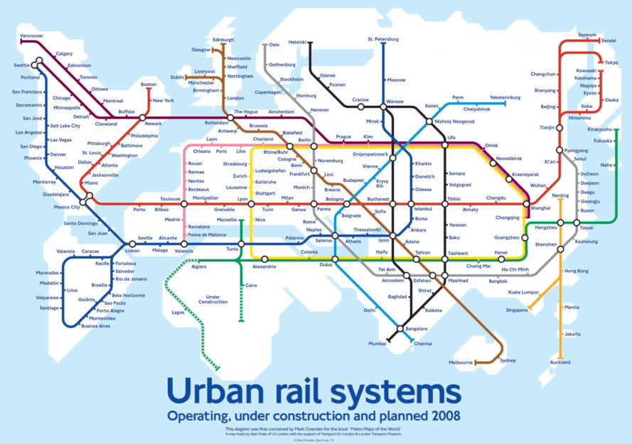 Global subway map shows the potential of a hyperloopconnected world