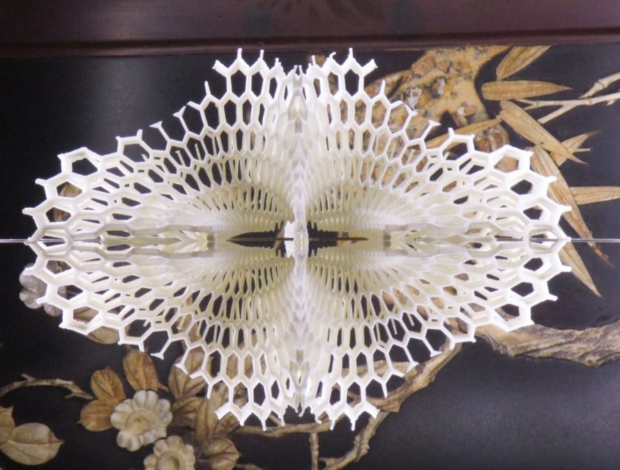 Lace LED by Margot Krasojević, 3D printed lamp, 3D printed LED light diffuser, Lace LED, 3d printed Lace LED, 3d printed lighting