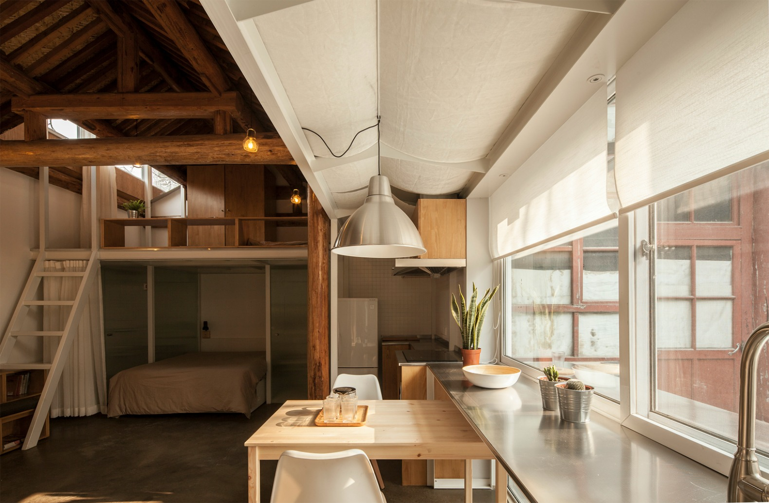 Tiny prison like apartment in Beijing reborn as a light filled