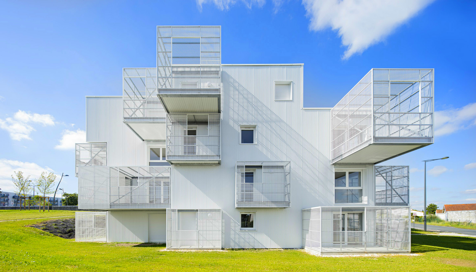 Attractive A Series Of Cantilevering Cubes Make Up This French Social Housing Complex