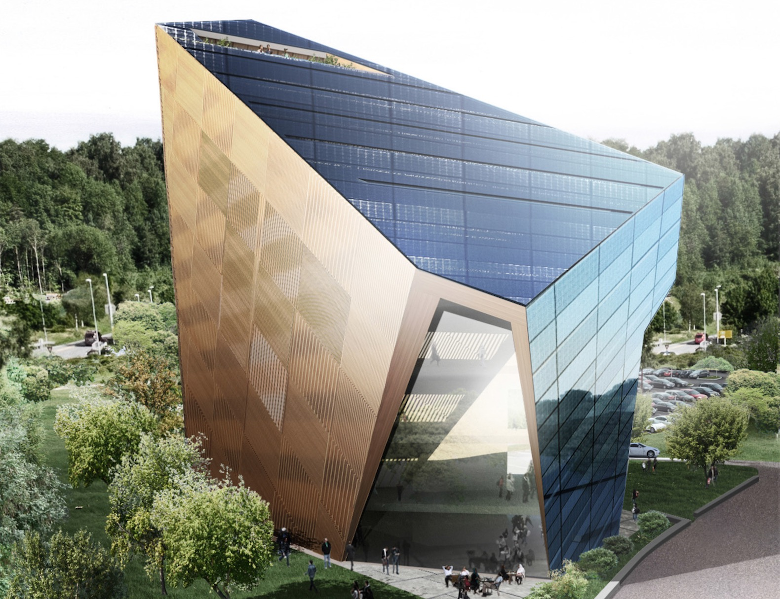 Powerhouse Telemark by Snøhetta, Powerhouse Telemark by Emil Eriksrød, Powerhouse Telemark in Norway, Powerhouse Telemark in Porsgrunn, plus energy architecture in Norway, energy positive building in Norway, Norway plus energy office, plus energy office building