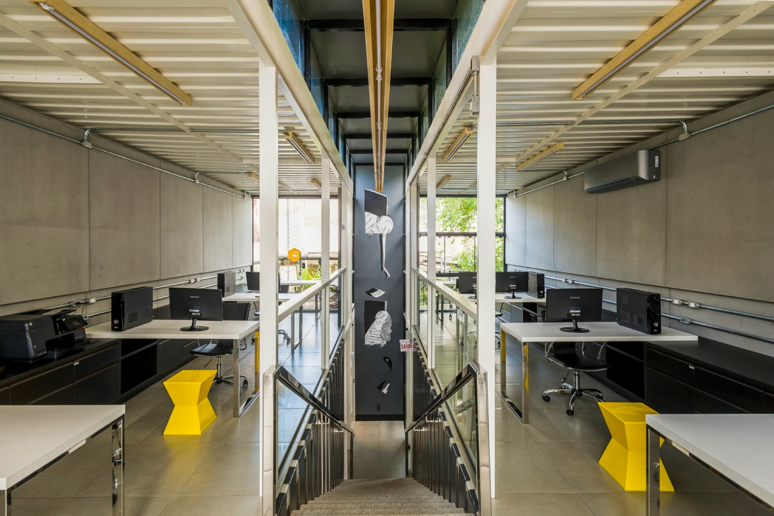 Container Green Roofs Cool Co Working Shipping Container Office In