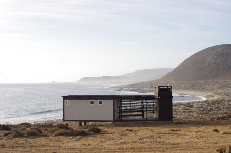 health clinic in Caleta El Sauce, off grid Caleta El Sauce, off grid health clinic, prefabricated health clinic, health clinic architecture, solar powered health clinic, Rural Health Clinic by SAA arquitectura + territorio