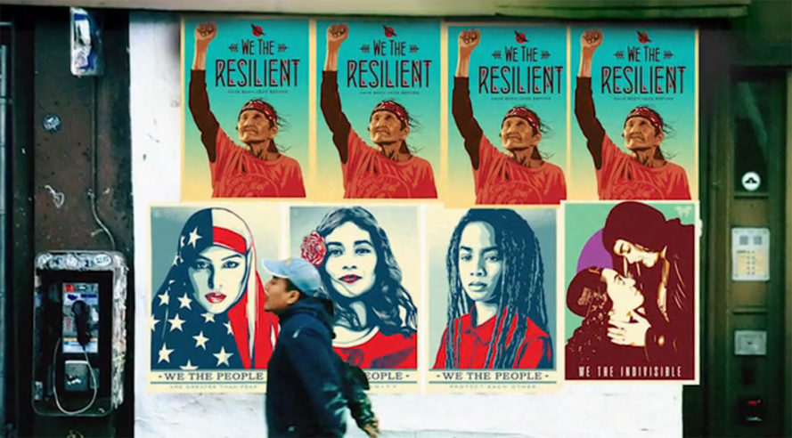 Shepard Fairey, Ernesto Yerena, Jessica Sabogal, We the People, Donald Trump, Donald Trump inauguration, resistance posters, from hope to nope, Amplifier Foundation, creative resistance, art for social change, protest art, protest design