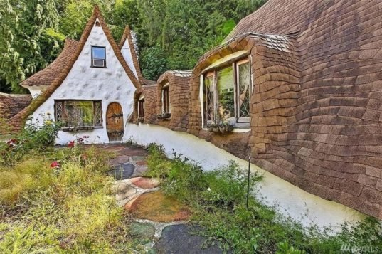 Whimsical cottage straight out of snow white can be yours for Whimsical cottage house plans