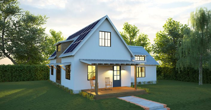 New net-zero Solar Farmhouse from Deltec generates all its own energy