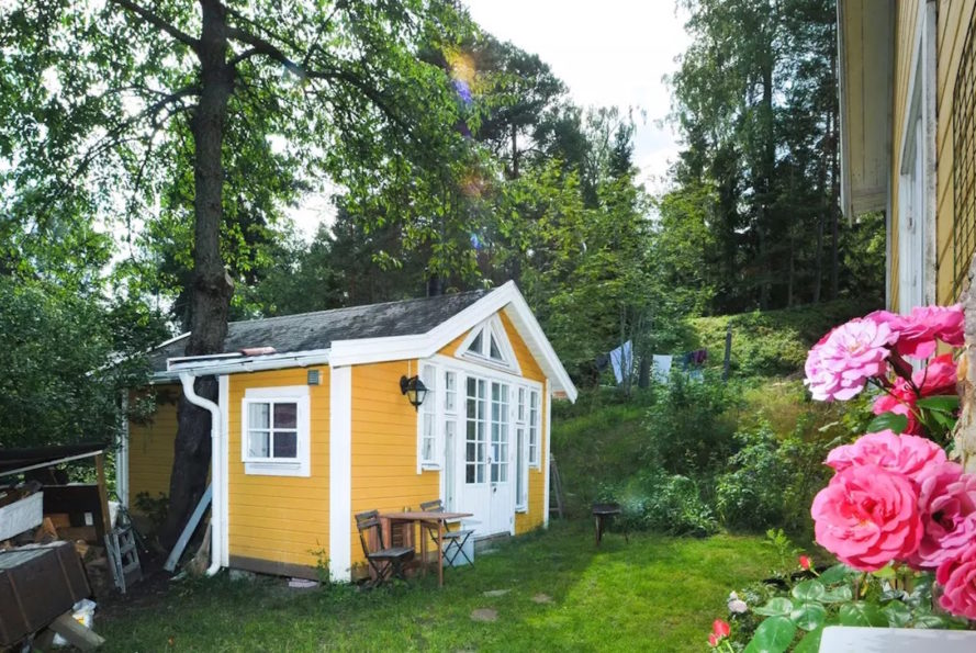 Swedish tiny home, vacation tiny home, tiny home living, writer's cabin