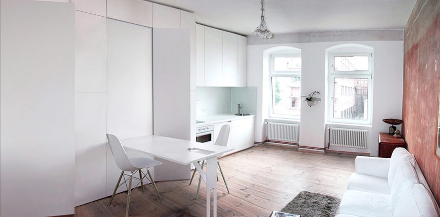 Itay Friedman Architects, Renovated Apartment, Green Renovation, Berlin,  Home Office, Small