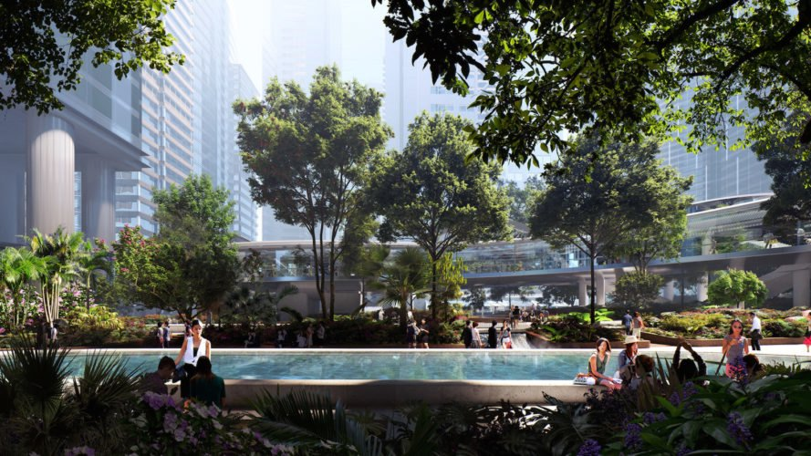 Taikoo Place by Gustafson Porter + Bowman, Taikoo Place in Hong Kong Taikoo Place park, LEED Platinum Taikoo Place, Hong Kong green space, Hong Kong park, Hong Kong native species, Hong Kong landscape architecture