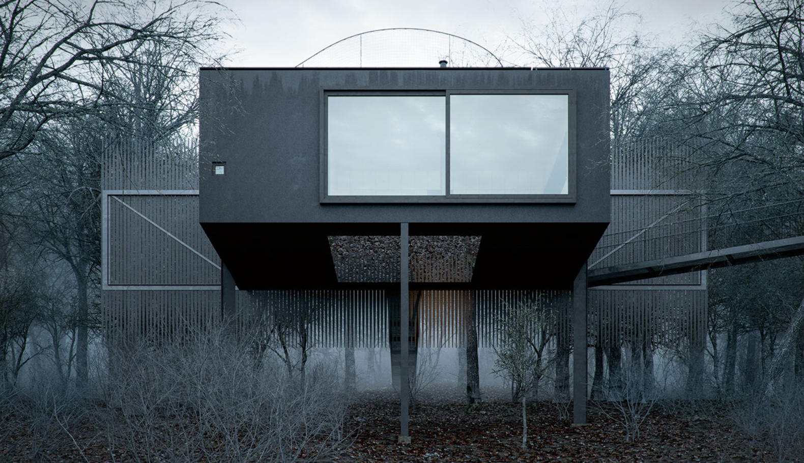 Mask House, WOJR, Ithaca, Secluded Retreat, New York, House On Stilts