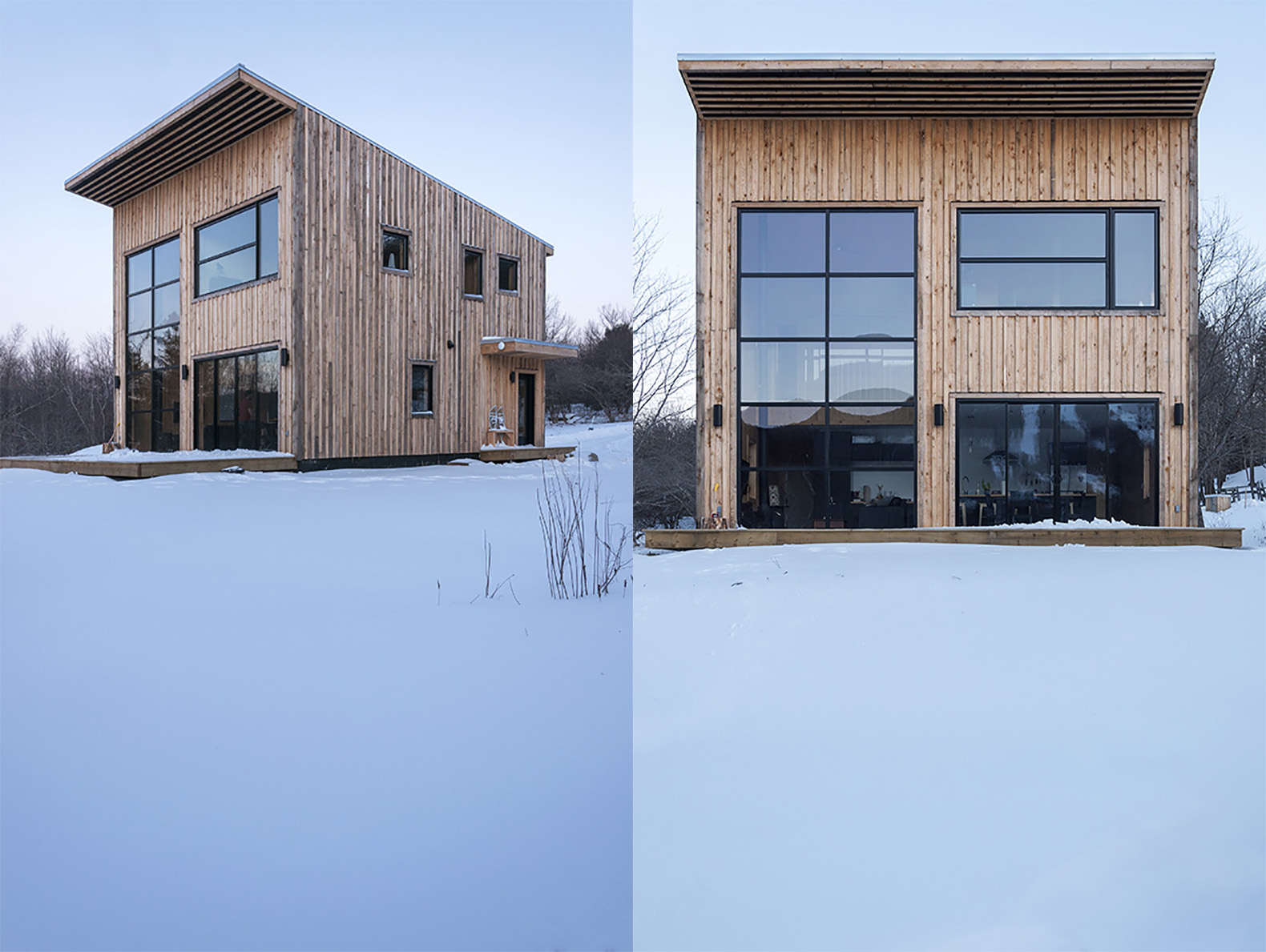 Young carpenter builds cost effective timber cabin for his for Cost effective house building