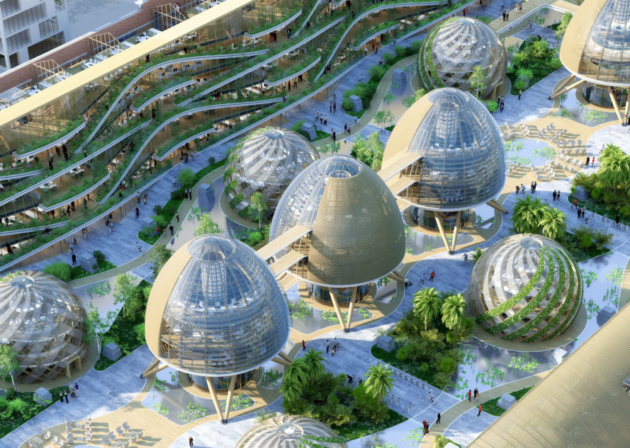 Tour & Taxis masterplan by Vincent Callebaut, Tour & Taxis eco neighborhood, Tour & Taxis BIOCAMPUS, Tour & Taxis in Belgium sustainability, sustainable eco-neighborhood masterplan,