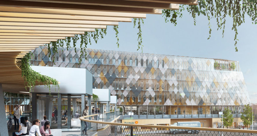 Växjö station and city hall, White Arkitekter, urban spaces, Sweden, wooden structure, city hall, green architecture, public spaces, low energy consumption, energy efficiency