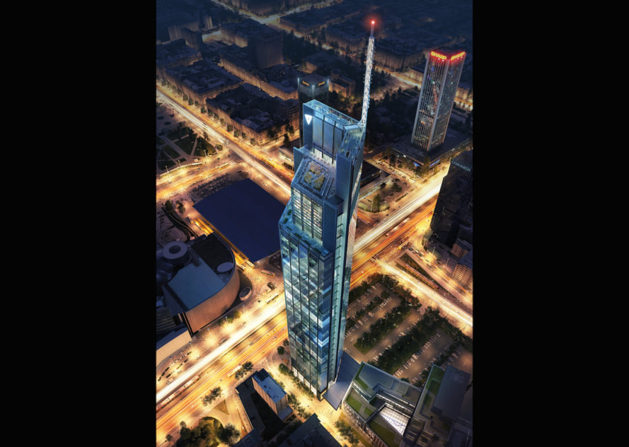 Varso Tower by Foster + Partners, tallest tower in Poland, tallest tower in Warsaw, Hermanowicz Rewski Architects Varso, Varso Development in Poland, BREEAM Outstanding architecture in Poland,