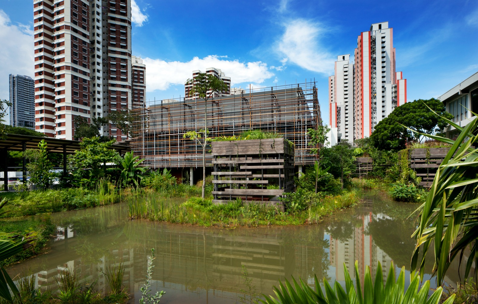 Woha s deep green enabling village is a beacon of for Architecture firms in singapore