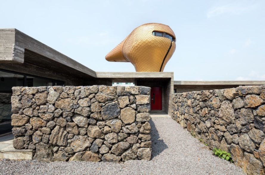 Wind House by Moon Hoon, Wind House film, Wind House Jeju Island, unusual Jeju island architecture, Wind House in South Korea, contemporary architecture in Jeju