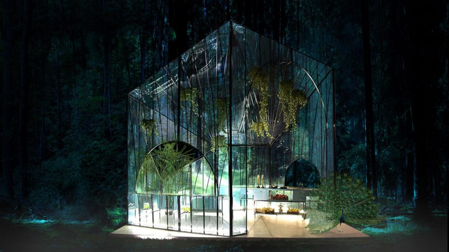 314 Architecture Studio, Spitiko Pavilion, be fresh spitiko, bfresh pavilion, glass pavilion, forest pavilion, greenhouse pavilion, greenhouse design, glass structures, glass paneled cubes, greenhouse pavilion, glass panels,