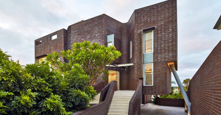 This gorgeous brick house is heated and cooled by the earth