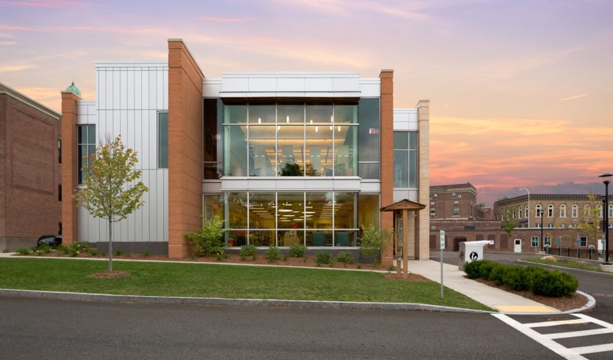 Tappé Architects, Carnegie Public Library, green renovation, green library, Massachusetts, historic building, solar power, photovoltaic panels, LEED Platinum certification, green architecture