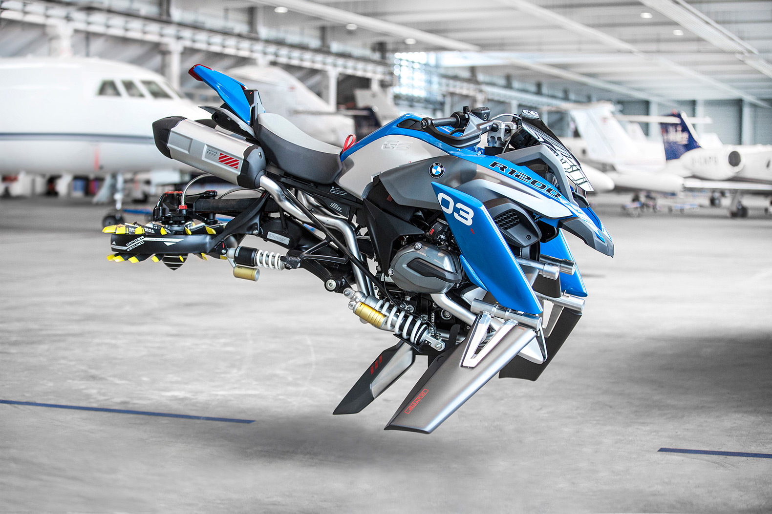 BMW and LEGO team up to create a futuristic flying motorcycle