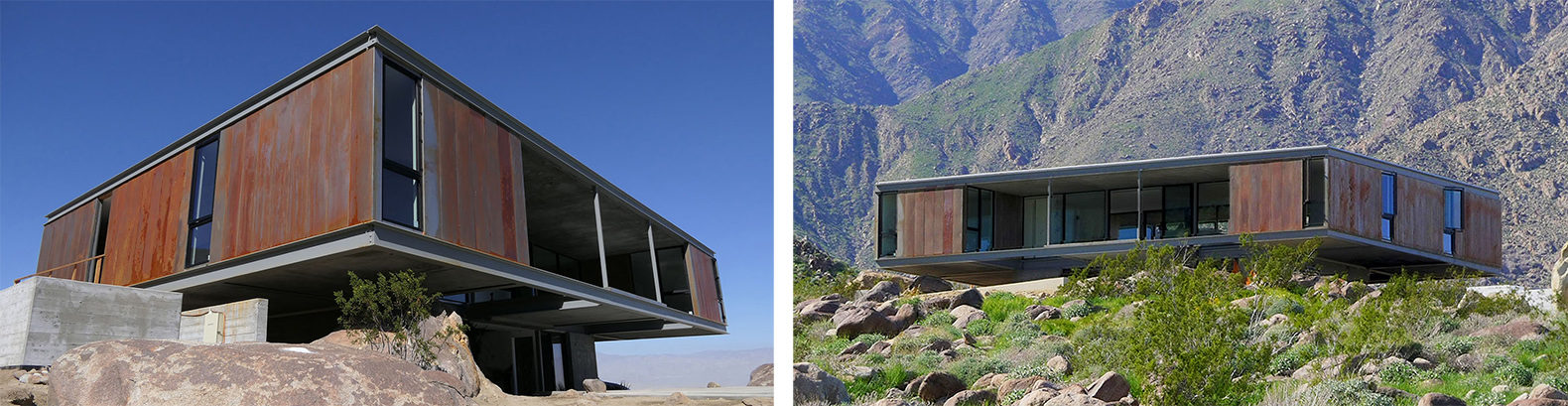 Mid-century modernism and sustainable design meet in two desert ...