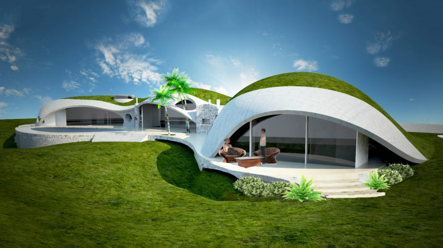 Nicolo Bini, binishells, inflatable concrete, architecture, inflatable architecture, dome architecture, dome homes, dome shaped structures, bubble-shaped structures, bubble architecture, next generation construction technologies, green design, green architecture, sustainable design, eco domes, sustainable domes, sustainable building, concrete domes, dome homes