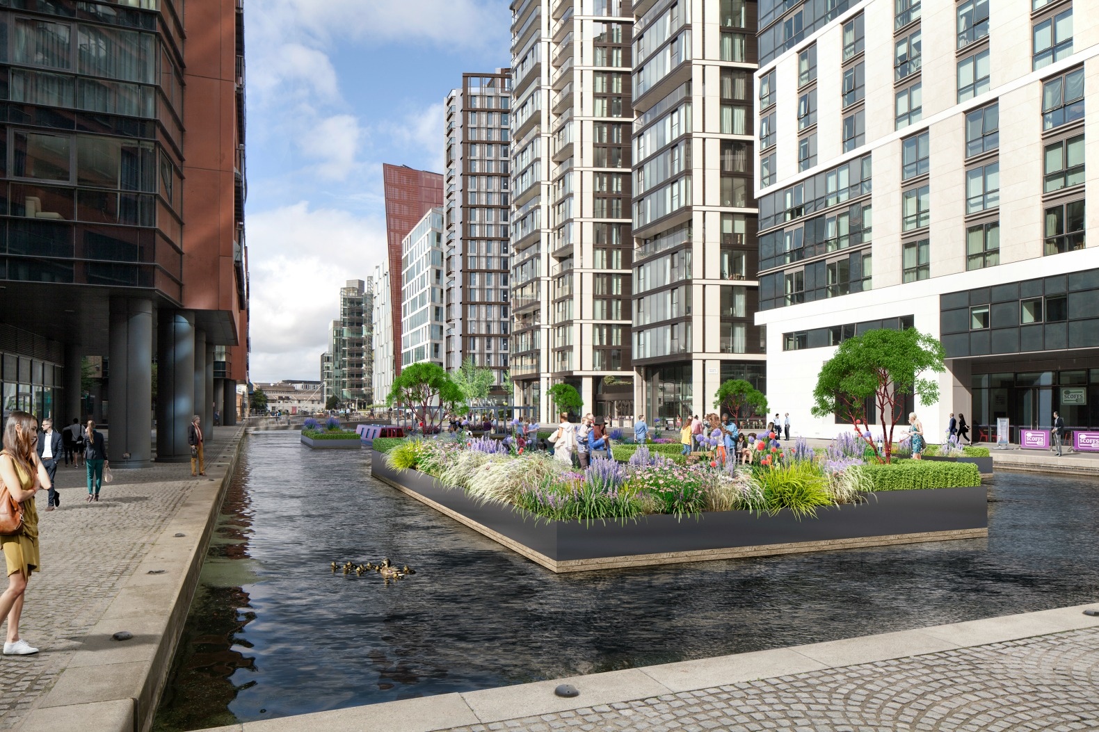 London 39 s first floating park slated to open this spring for Flowers union square nyc