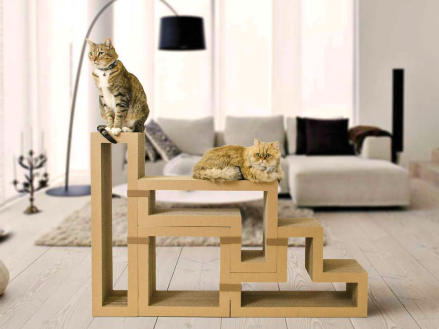 Katris, cat furniture, modular cat furniture, modular furniture, cat posts, recycled paper, fsc certified paper products, modular furniture, pet furniture, sustainable home design, green furniture, recyclable furniture, cat scratch posts, eco-friendly pet products, sustainable cat products, home design, cat shelves,