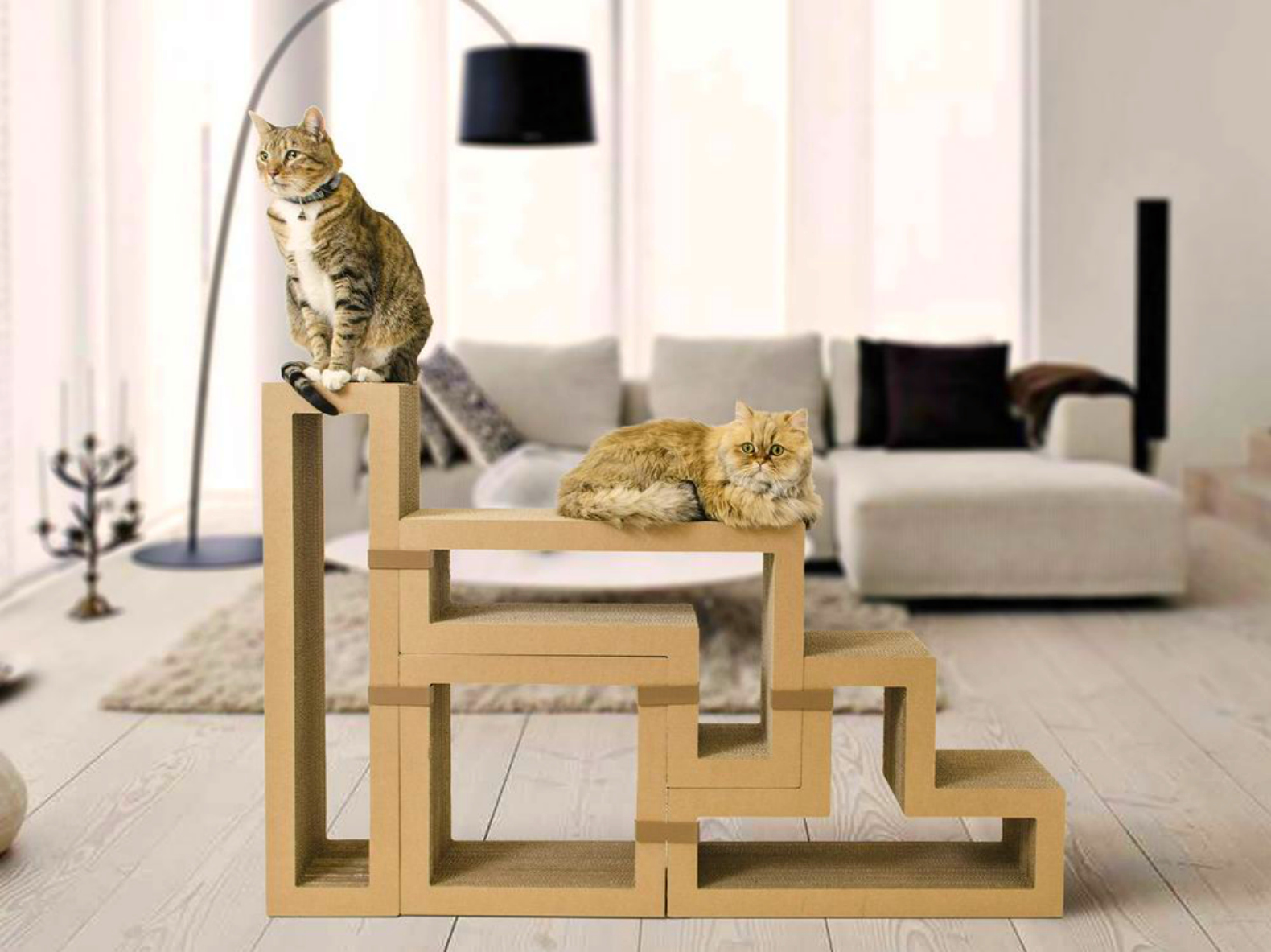 Incroyable Playful KATRIS Scratching Post Blocks Fit Together Like Tetris For Cats